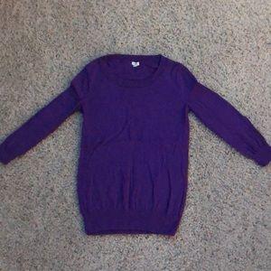 J. Crew purple sweater 3/4 sleeve XS